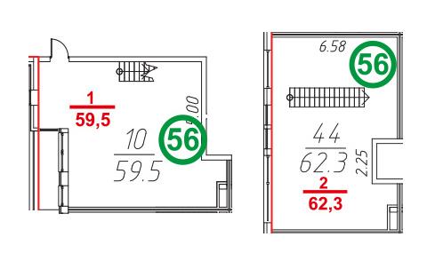 Своб. план., 123.1 м²