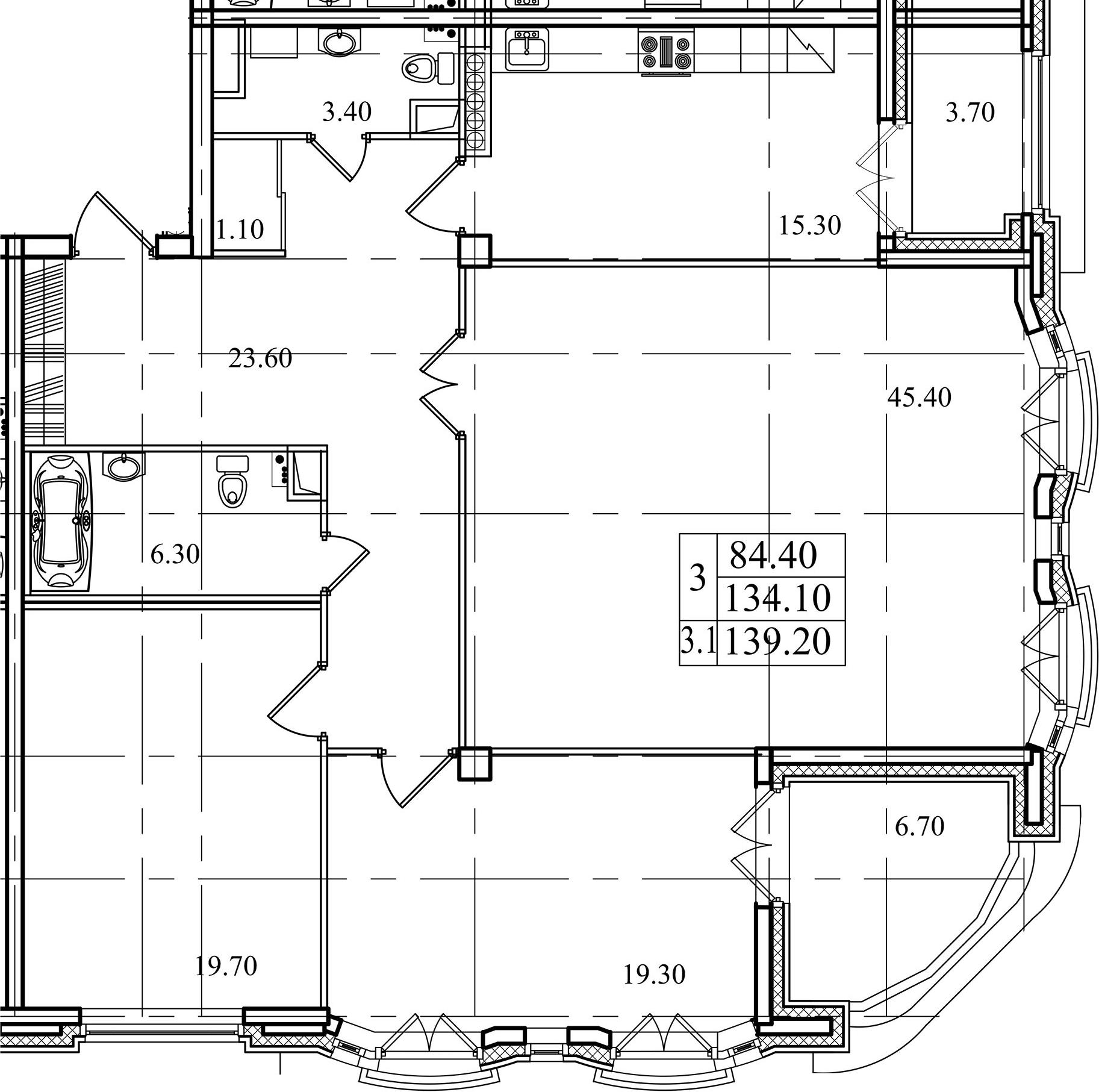 3-к.кв, 142.1 м²