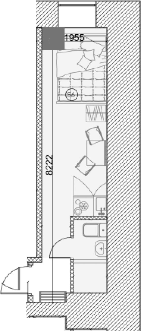 Свободная планировка, 18.67 м²– 2