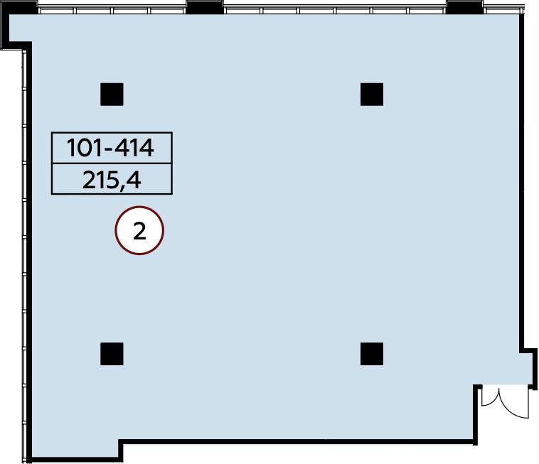 Коммерческое помещение, 215.4 м²– 2