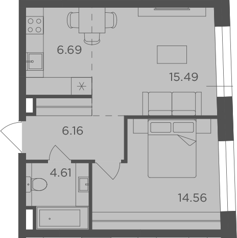 2-к.кв (евро), 47.51 м²