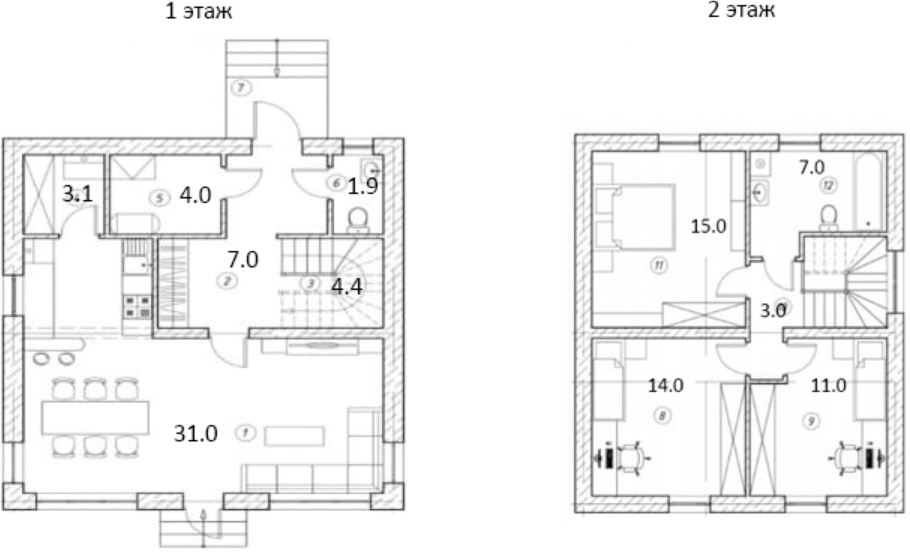Коттедж, 101.4 м²
