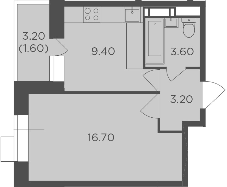 1-к.кв, 34.5 м², 5 этаж