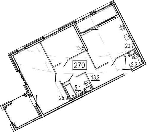 3Е-комнатная, 90.9 м²– 2