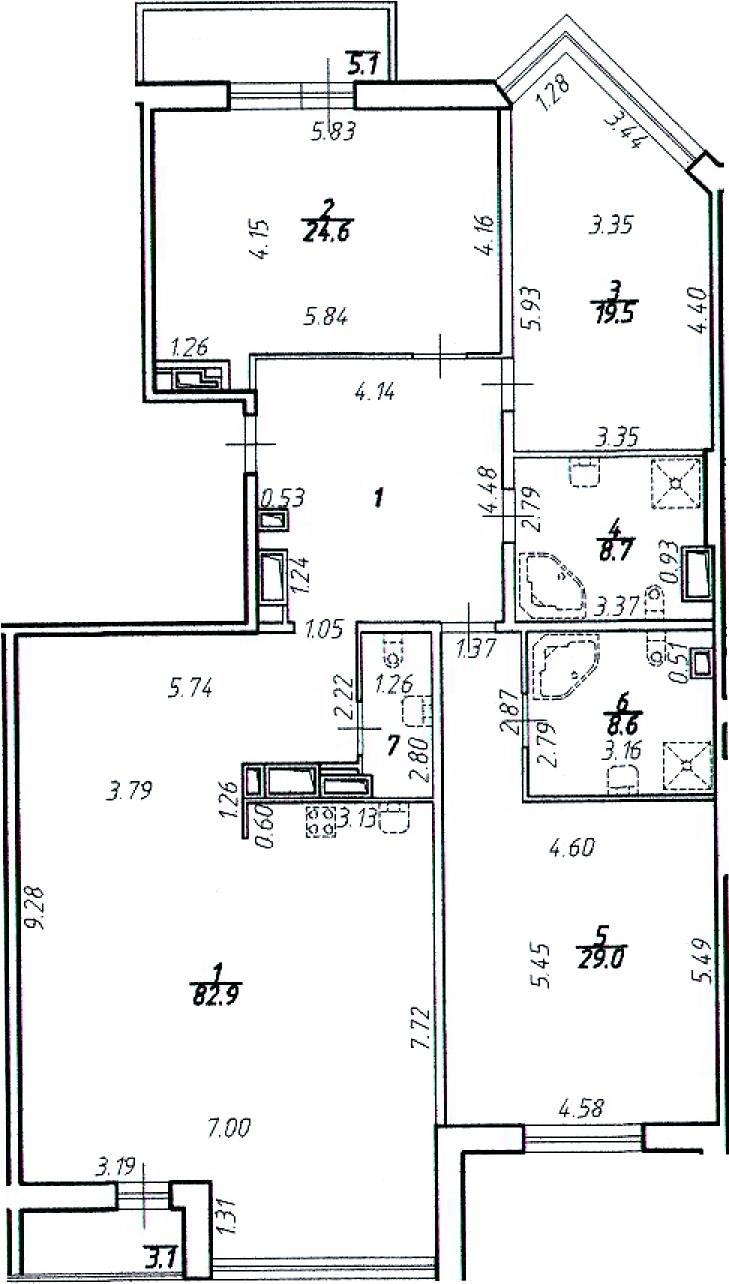 4-к.кв (евро), 184.82 м²