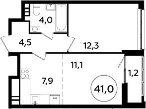 4Е-комнатная, 67.2 м²– 2