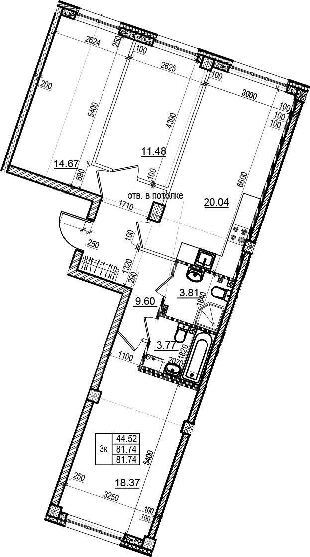 4Е-комнатная, 81.74 м²– 2