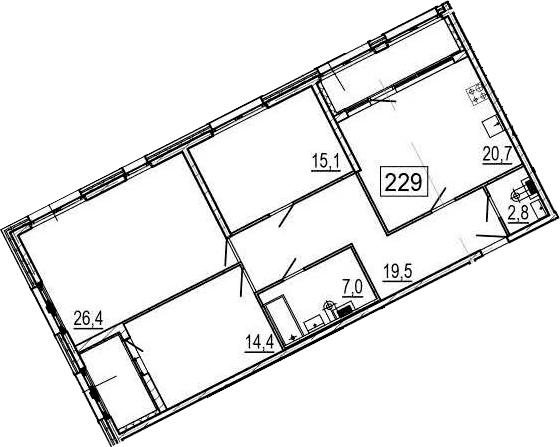 4Е-комнатная, 111 м²– 2