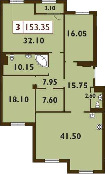 4Е-к.кв, 153.35 м²