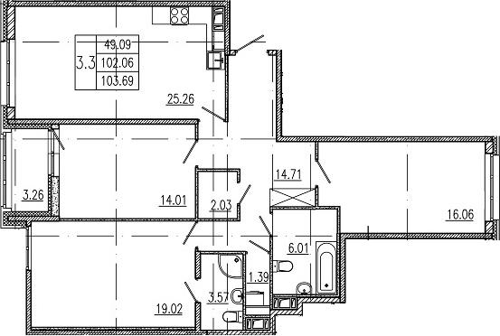 4Е-к.кв, 102.06 м²