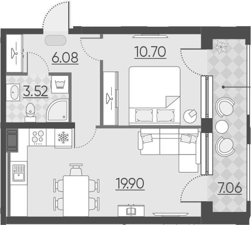 2-к.кв (евро), 47.26 м²
