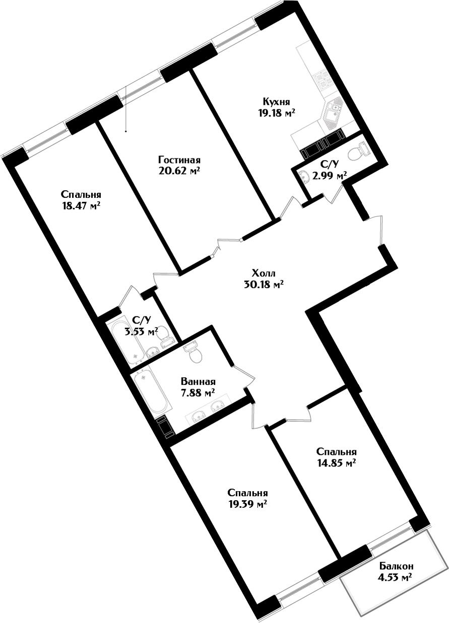 5Е-комнатная, 138.45 м²– 2