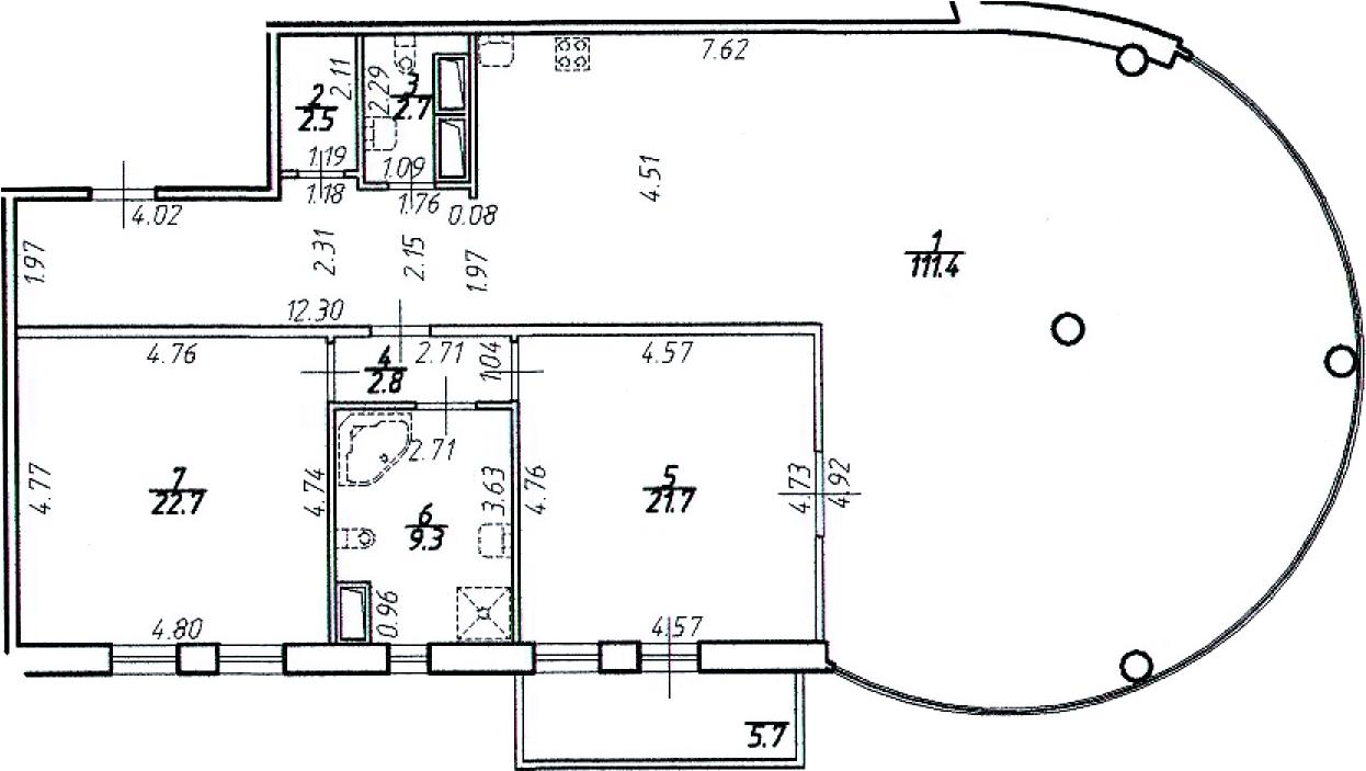 3Е-комнатная, 173.1 м²– 2