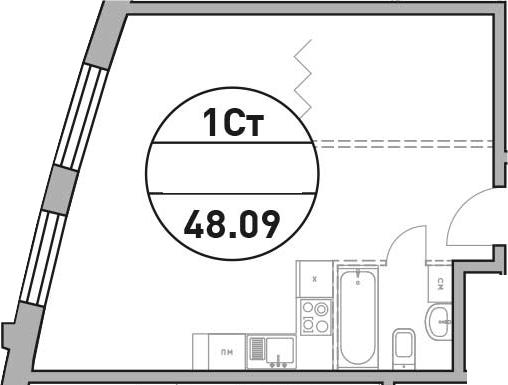 Своб. план., 48.09 м²