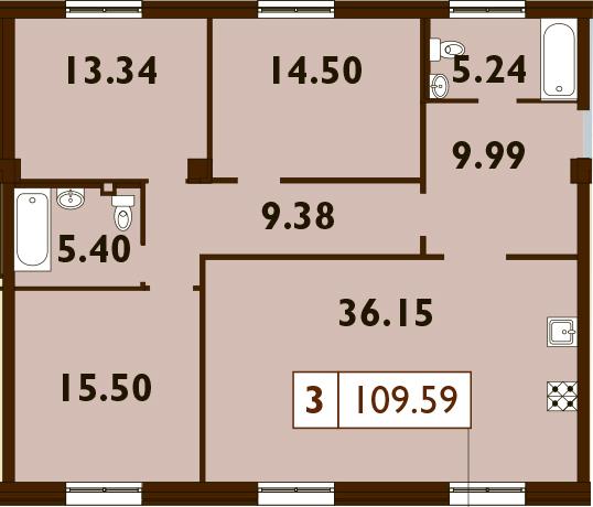 4Е-к.кв, 109.59 м²