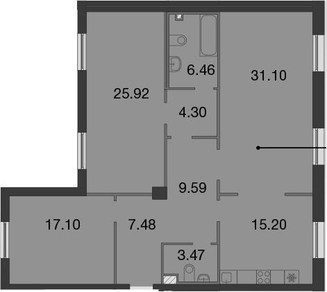 4Е-к.кв, 120.62 м²
