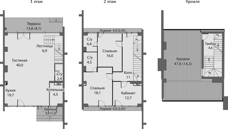 Таунхаус, 169.2 м², 1 этаж