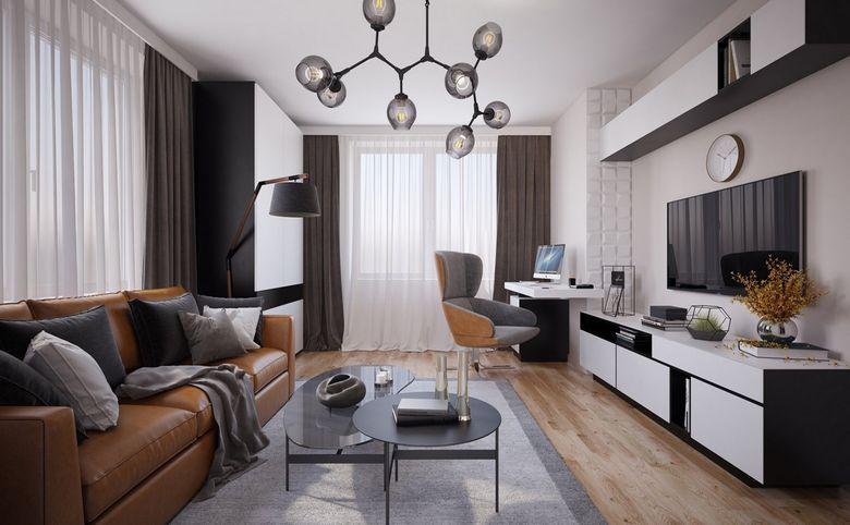 3Е-комнатная квартира, 57.7 м², 6 этаж – 2