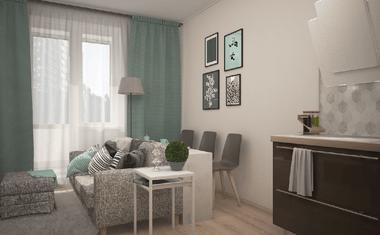 1-комнатная, 34.94 м²– 3