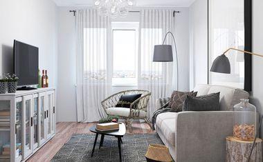 1-комнатная, 35.6 м²– 9