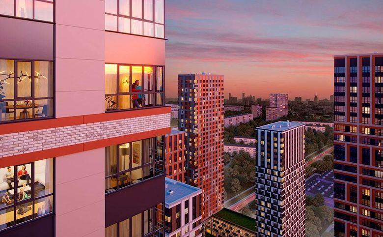 Высокие потолки и увеличенные оконные проемы в квартирах