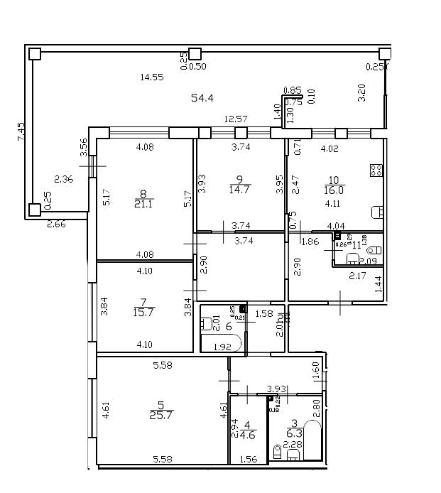 5Е-комнатная, 158.2 м²– 2