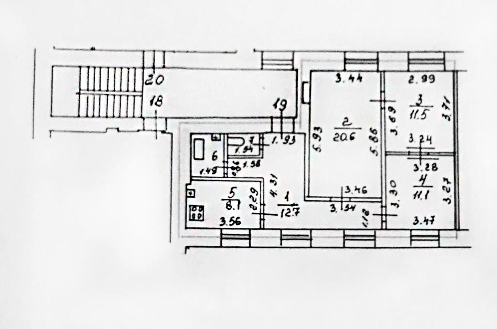 3-к.кв, 67.03 м²