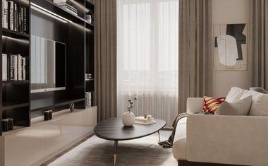 1-комнатная, 42 м²– 9