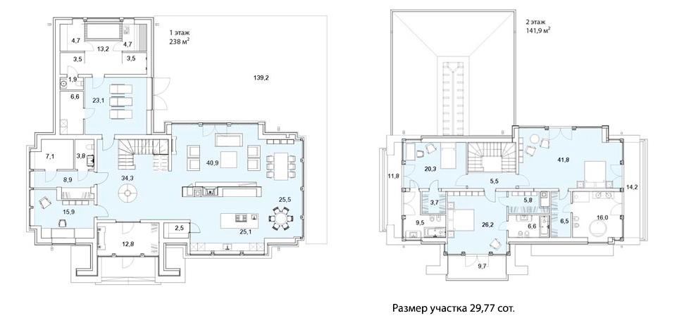 Коттеджи, 590.9 м²
