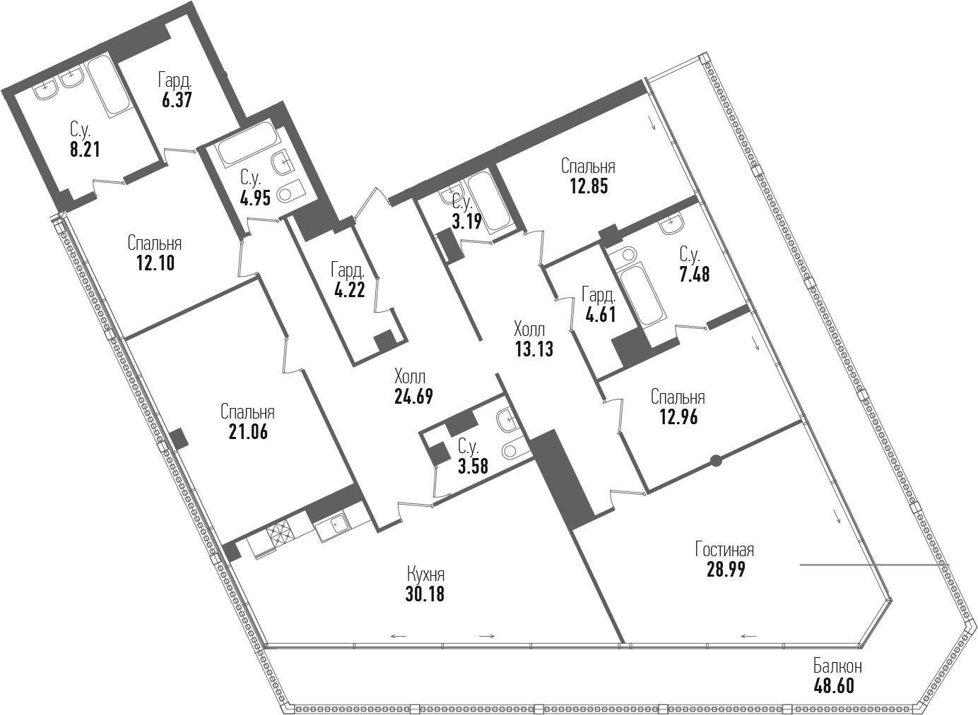 5-к.кв, 247.17 м²
