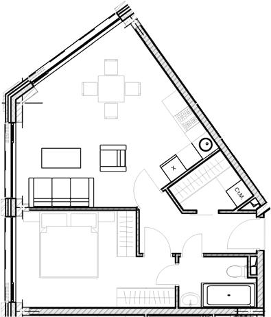 Свободная планировка, 47.53 м²– 2