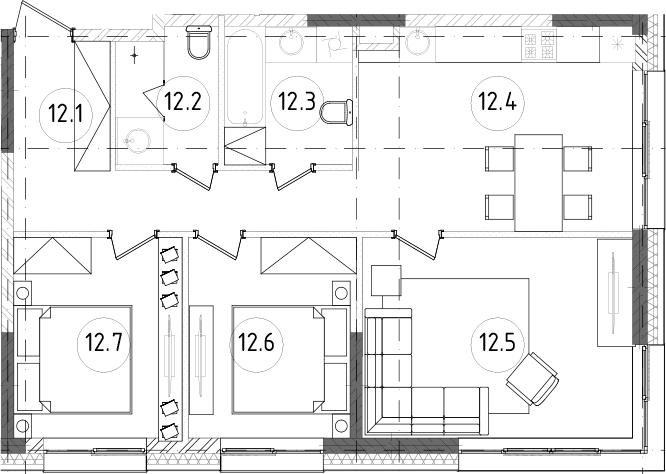 4Е-к.кв, 67.63 м²