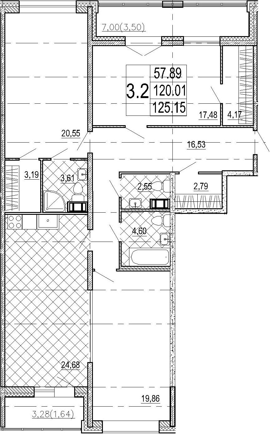 4-к.кв (евро), 130.29 м²