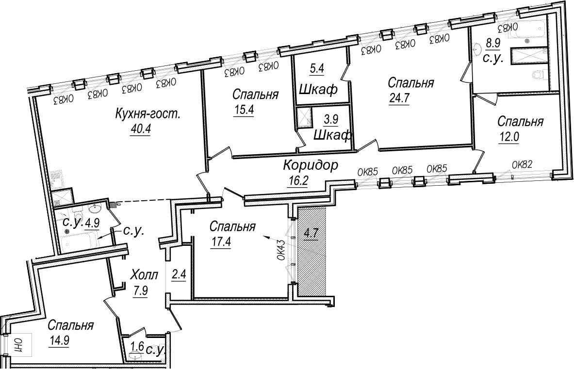 5-к.кв, 182.25 м²