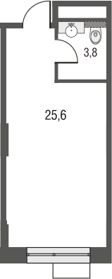 Свободная планировка, 29.4 м²– 2
