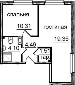 2Е-к.кв, 39.76 м²