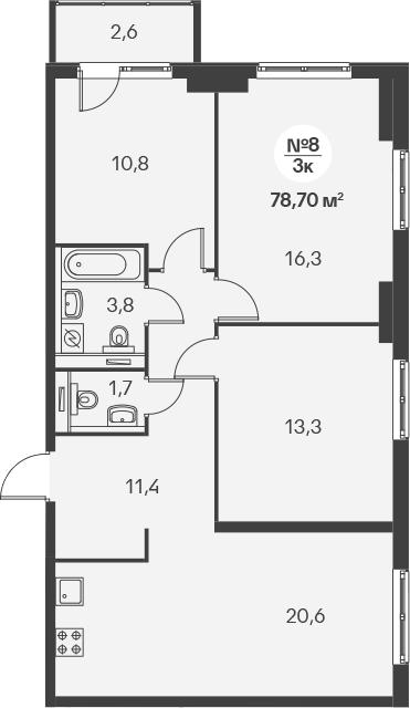 4-к.кв (евро), 80.52 м²