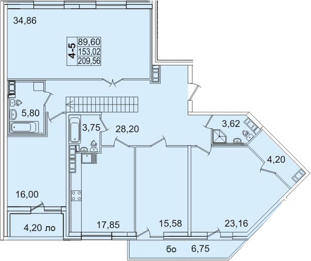 5-к.кв (евро), 362.46 м²