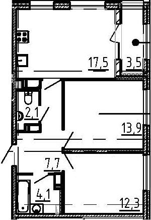 3Е-к.кв, 59.4 м²