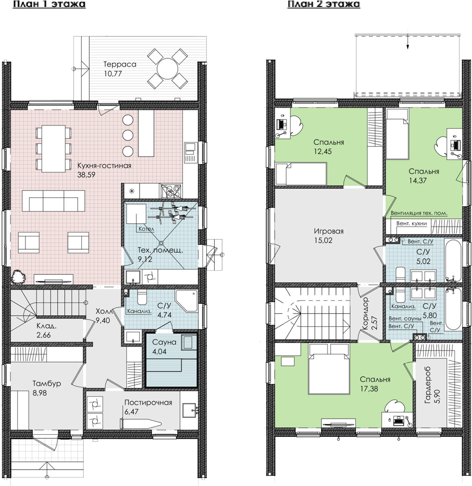 Коттедж, 173.28 м²– 2