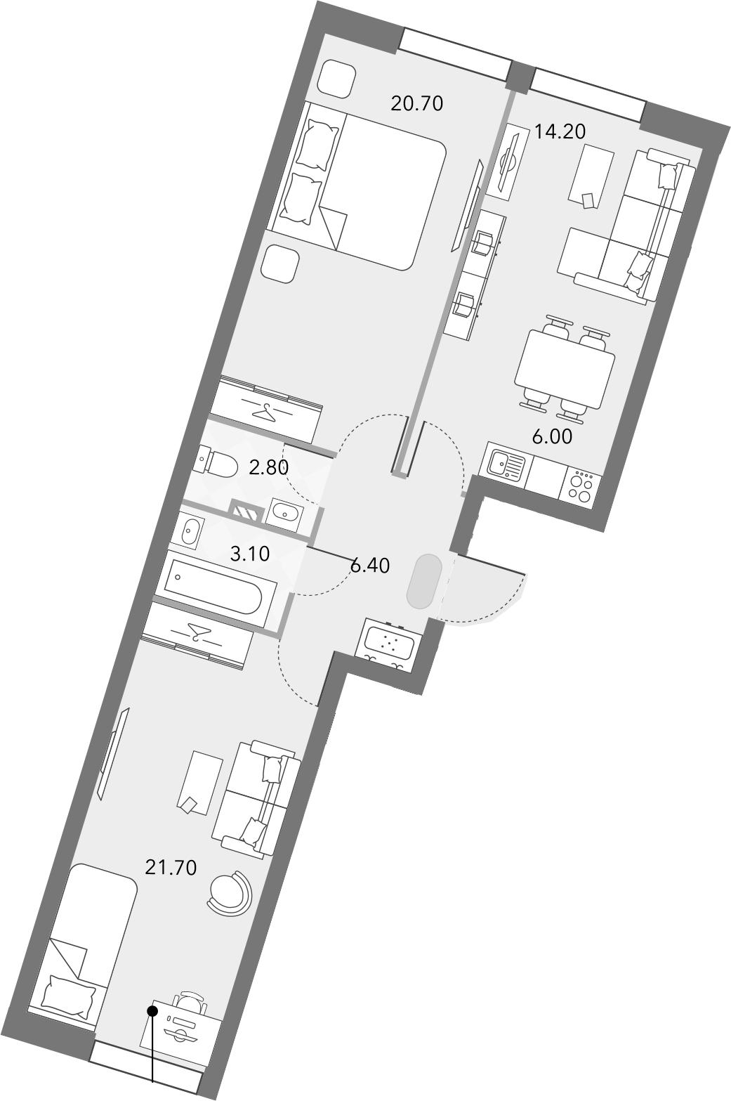 3Е-комнатная, 74.9 м²– 2