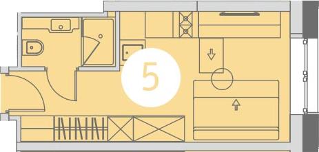 Студия, 18.7 м²