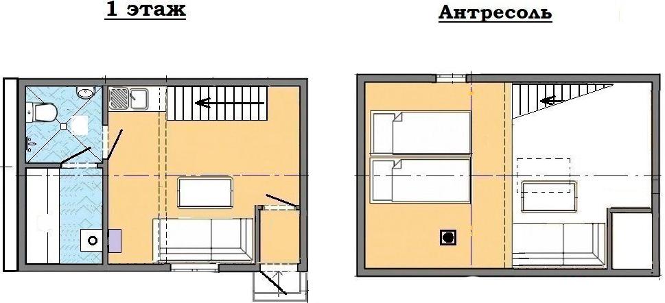 Коттедж, 36.3 м²– 2