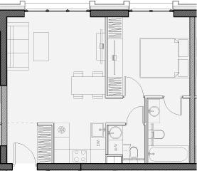 Свободная планировка, 44.6 м²– 2