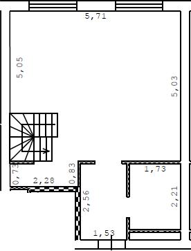 Студия, 57.6 м²– 2