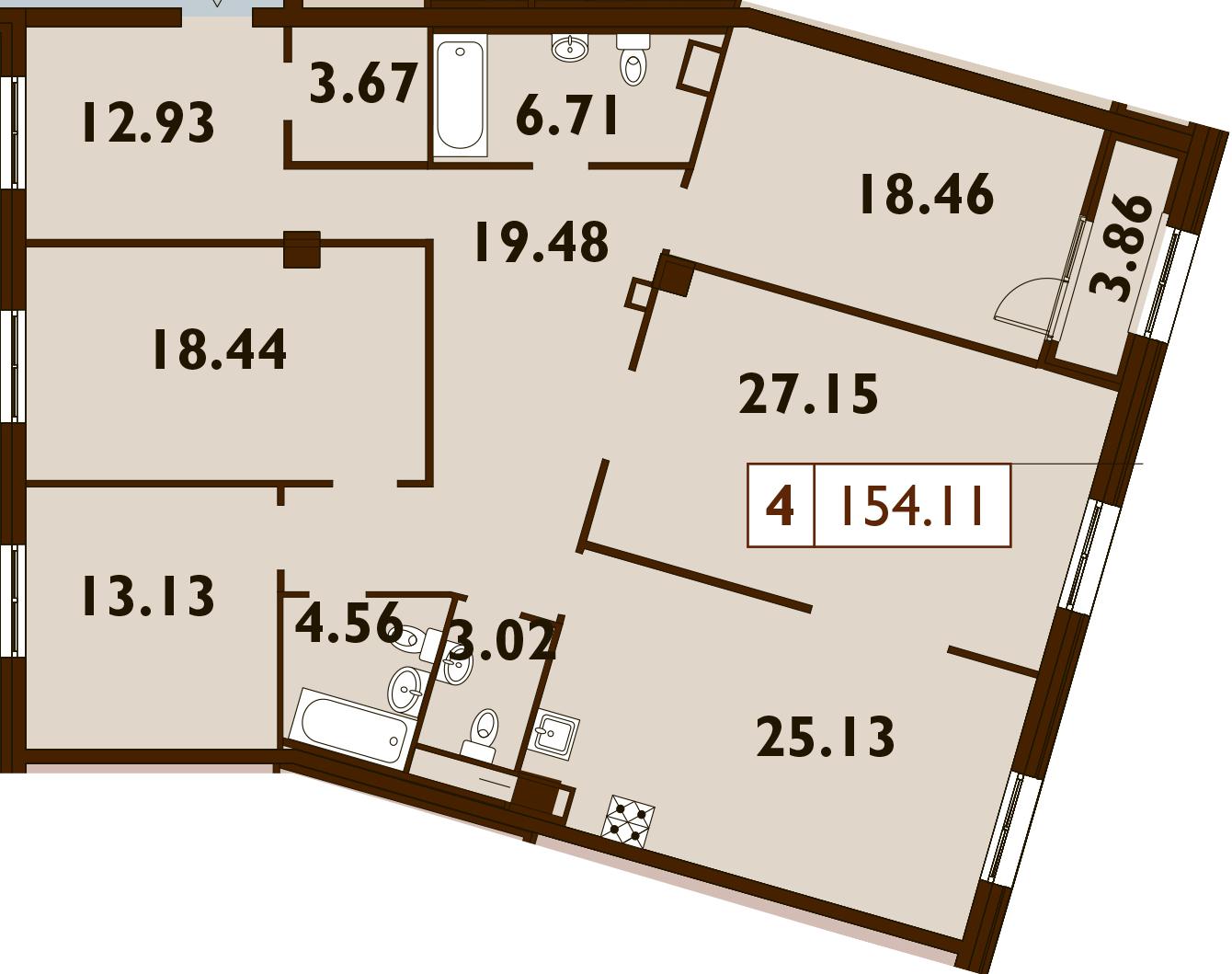 5Е-к.кв, 154.11 м²