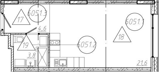 Студия, 30.01 м²
