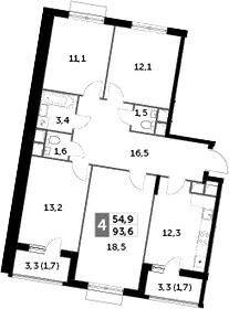 4-к.кв, 93.6 м²