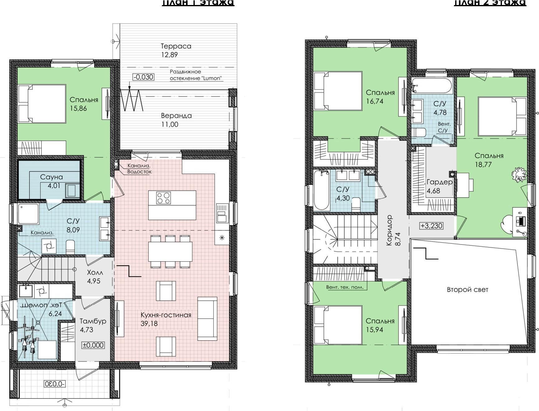 Коттедж, 180.9 м², 1 этаж