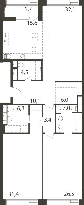 4-к.кв (евро), 147.55 м²